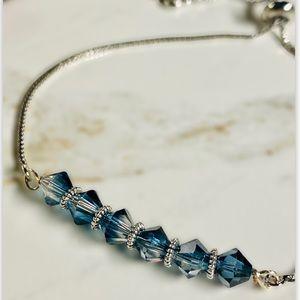 Swarovski crystal ombre blue bracelet